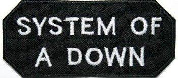 naszywka SYSTEM OF A DOWN - LOGO WHITE