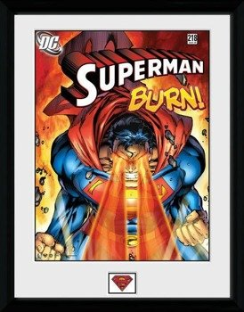 obraz w ramie SUPERMAN - BURN