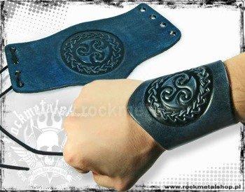 opaska na rękę wiązana 90mm TRIBAL blue