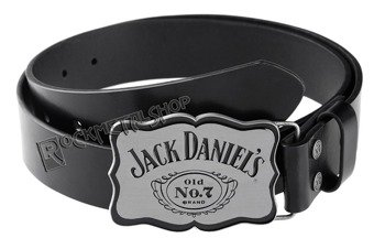pas JACK DANIELS - CURVED PLATE WITH BLACK LEATHER BELT
