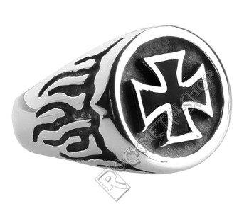 pierścień BLACK IRON CROSS 2