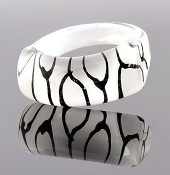 pierścień PATCHES biały
