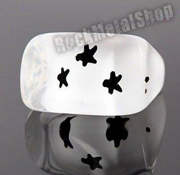 pierścień STARS biały