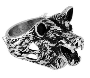 pierścień WOLF HEAD
