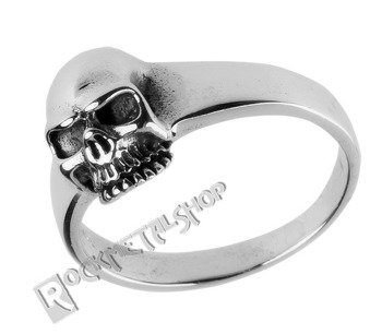 pierścionek SKULL, srebro 925