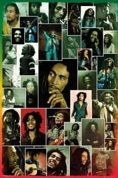 plakat BOB MARLEY - PHOTO COLLAGE