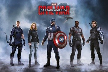 plakat CAPTAIN AMERICA - TEAM CAPTAIN AMERICA