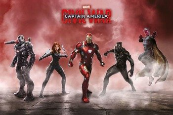 plakat CAPTAIN AMERICA - TEAM IRON MAN