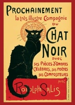plakat CHAT NOIR