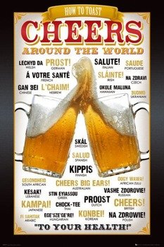 plakat CHEERS -  AROUND THE WORLD