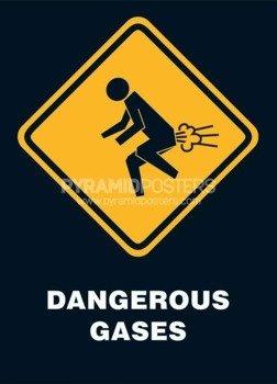 plakat DANGEROUS GASES