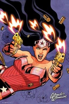 plakat DC COMICS - WONDER WOMAN SHOOTING
