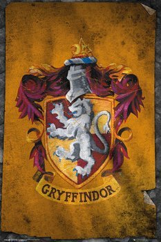 plakat HARRY POTTER -  GRYFFINDOR FLAG