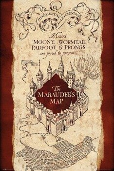 plakat HARRY POTTER -  MARAUDER'S MAP