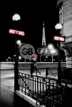 plakat PARIS - METRO