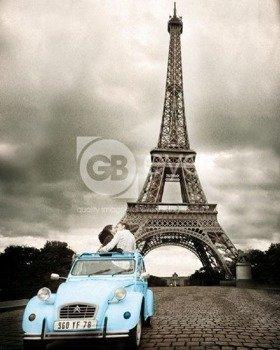plakat PARIS - ROMANCE