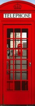 plakat na drzwi LONDON - PHONEBOX