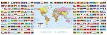 plakat panoramiczny FLAGS OF THE WORLD