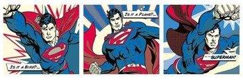 plakat panoramiczny SUPERMAN - POP ART TRIPTYCH