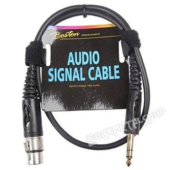 przewód audio BOSTON: XLR żeński -  DUŻY JACK STEREO (6.3mm) / 0,75m