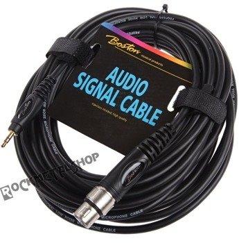 przewód audio BOSTON: XLR żeński -  mały JACK STEREO (3,5mm) / 9m