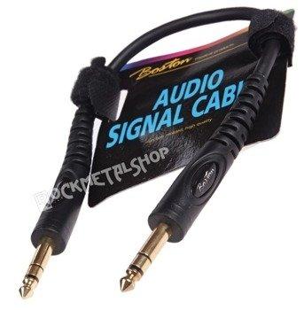 przewód audio BOSTON: duży JACK/JACK STEREO (6.3mm)  / 0,30m