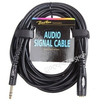 przewód audio BOSTON: gniazdo JACK STEREO (6.3mm) -  DUŻY JACK STEREO (6.3mm) / 6m