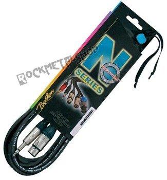 przewód mikrofonowy BOSTON N-SERIES NEUTRIK: XLR żeński -  DUŻY JACK stereo (6.3mm) / 5m