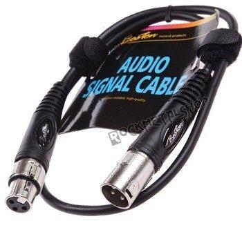 przewód mikrofonowy BOSTON: XLR męski - XLR damski / 0,75m