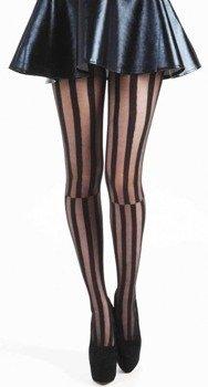 rajstopy Mismatch Striped Black