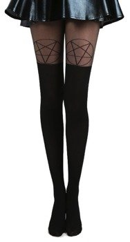 rajstopy PENTAGRAM OTK TIGHTS BLACK/BLACK