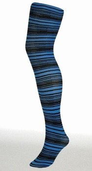 rajstopy PINSTRIPE LINES kolor niebieski