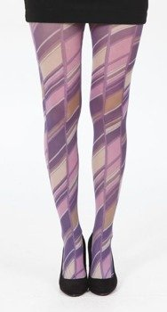 rajstopy Runway Print Tights - Multicoloured