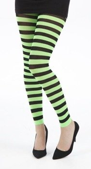 rajstopy w paski zielone Flo Footless