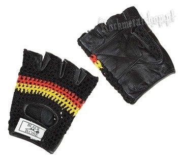 rękawiczki SKÓRZANE SIATKA bez palców