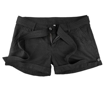 spodenki krótkie damskie LADIES HOT PANTS BLACK