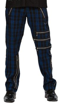 spodnie DEAD THREADS - BLUE TARTAN