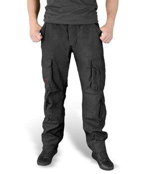 spodnie bojówki AIRBORNE VINTAGE TROUSERS SLIMMY czarne