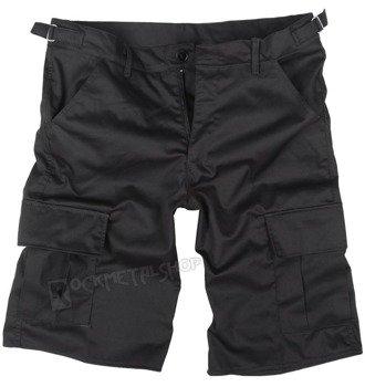 spodnie bojówki krótkie CARGO 1/2 czarne