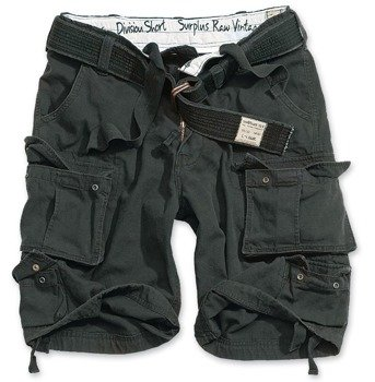 spodnie bojówki krótkie DIVISION SHORTS BLACK