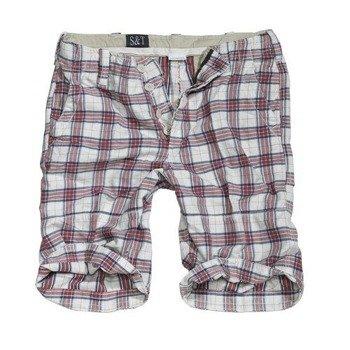 spodnie bojówki krótkie KILBURN SHORTS - RED CHECKERED