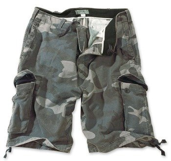 spodnie bojówki krótkie VINTAGE NIGHT CAMO