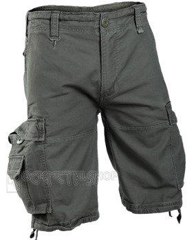 spodnie bojówki krótkie VINTAGE SHORTS - OLIV