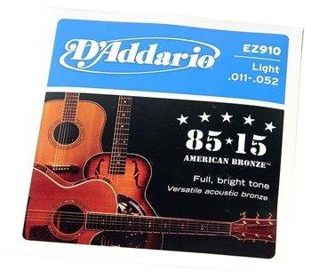 struny do gitary akustycznej D'ADDARIO EZ910 /011-052/