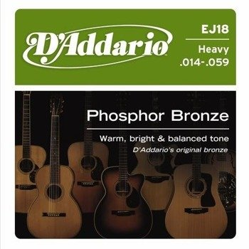 struny do gitary akustycznej D'ADDARIO - Heavy EJ18 /014-059/