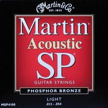 struny do gitary akustycznej MARTIN MSP4100 - PHOSPHOR BRONZE Light /012-054/