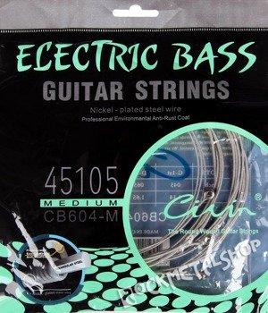 struny do gitary basowej CIVIN CB604-M HEXAGONAL CORE /045-105/