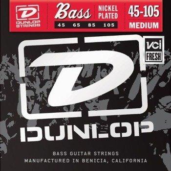 struny do gitary basowej JIM DUNLOP  - NICKEL PLATED /045-105/ (DBN45105)