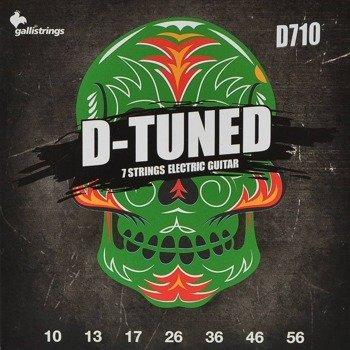 struny do gitary elektrycznej 7str. GALLI STRINGS - D-TUNED D710 obniżony strój /010-056/