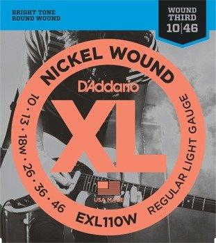 struny do gitary elektrycznej D'ADDARIO EXL110W /010-046/